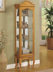 Curio Cabinet Images Curio Cabinets 4 Shelf Wood Curio Cabinet With Glass