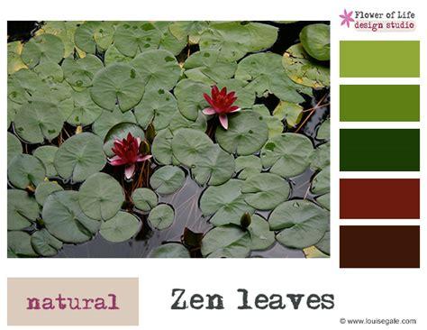 zen color palette color story zen leaves color palette louise gale mixed