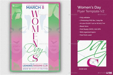 Womens Day Flyer Template V2 By Lou606 Graphicriver Flyer Template V2