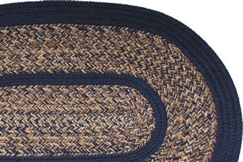 1776 blend navy braided rug