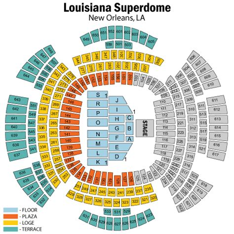 mercedes superdome seating 3d louisiana superdome 3d seating chart