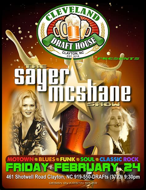 cleveland draft house sayer mcshane thurs thru sat shows sayer mcshane