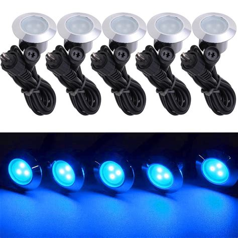 Led Landscape Lights Low Voltage 5pcs Led Garden Deck Lights Low Voltage Waterproof In Outdoor Lighting Ebay