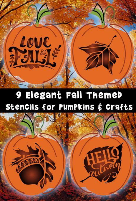elegant fall stencils  pumpkins  crafts woo jr