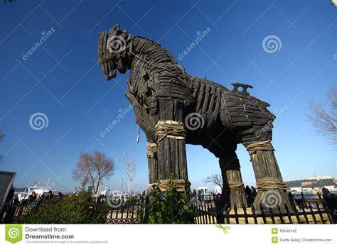 home paard van troje paard van troje stock fotografie afbeelding 19049142