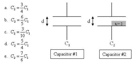 a parallel plate capacitor with plate separation of 4 0 cm parallel plate capacitor 1 has plate area a sepa chegg
