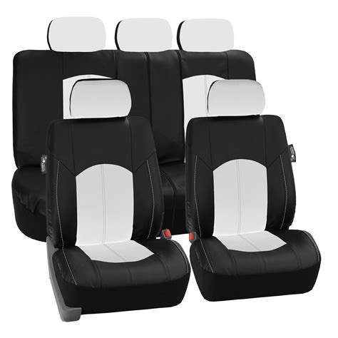 seat covers for split bench truck deluxe perforated leather car seat covers airbag safe