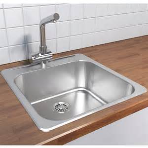 Overmount Kitchen Sink Cantrio Koncepts Stainless Steel Single Bowl Overmount Kitchen Sink With Free Shipping