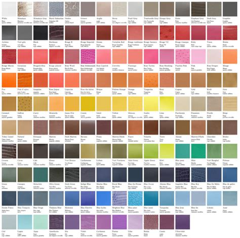 hermes color hermes color chart inspiring vibrant color choices and