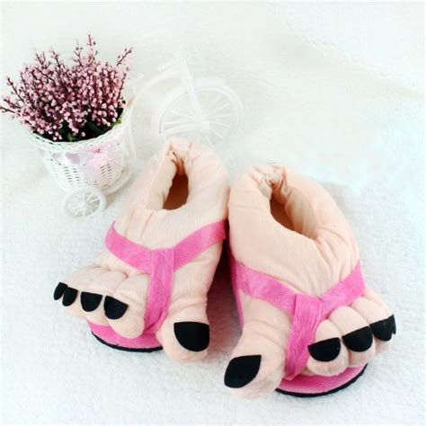 plush slippers for adults winter toe big warm soft plush slippers novelty