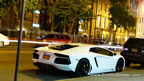 Lamborghini Manhattan Lamborghini Aventador Spotted In Manhattan New York On 06