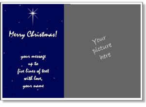 free religious greeting card templates card templates add your own photo printable