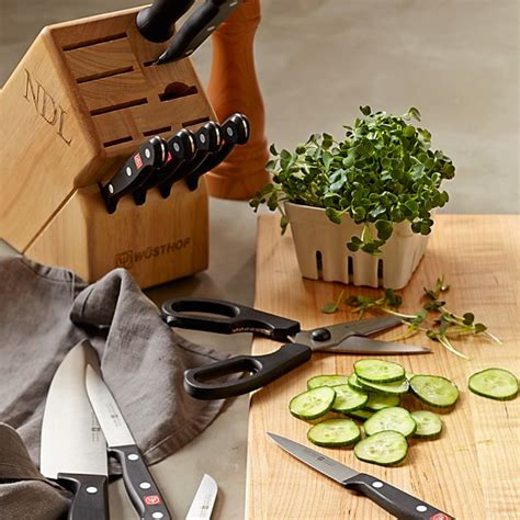 wusthof gourmet 10 knife block set w 252 sthof gourmet 12 knife block set williams sonoma