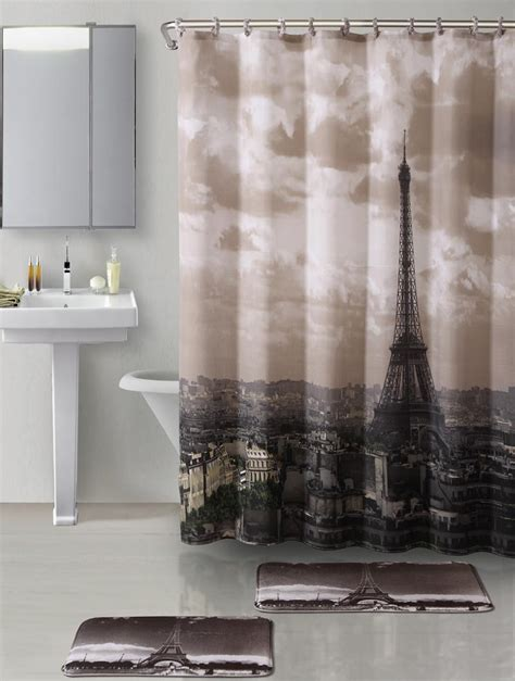 parisian shower curtain paris photo shower curtain
