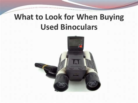 What To Look For When Buying A Used Truck by What To Look For When Buying Used Binoculars