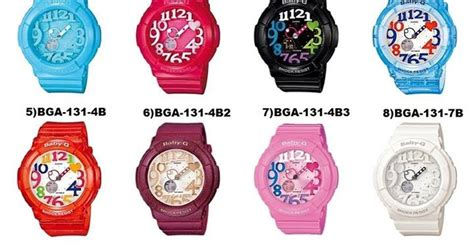 Jamtangan Original Wanita Casio Babyg Bga1905 Digital Analog T1310 2 cassio baby g bga 130 for
