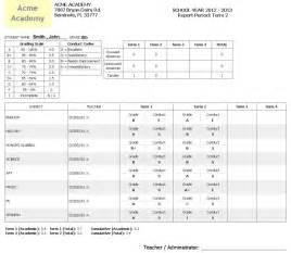 Student Report Card Sample Wildbright Technologies Inc