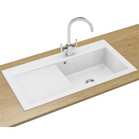 Franke Mythos Designer Pack Mtk 611 Ceramic White Sink And Franke Kitchen Sink