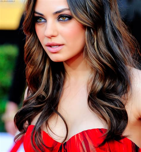 female celebrities with low lights mila kunis