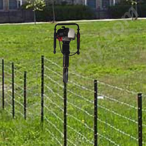 install l post concrete installing fence posts without concrete best idea