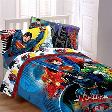 justice bedding dc comics justice league complete reversible twin bedding