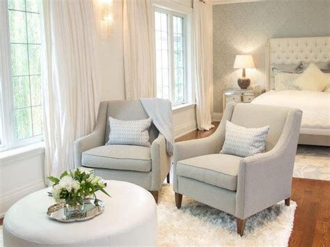 Small Sitting Chairs by Bedroom Sitting Area With Gray Chairs And White Ottoman