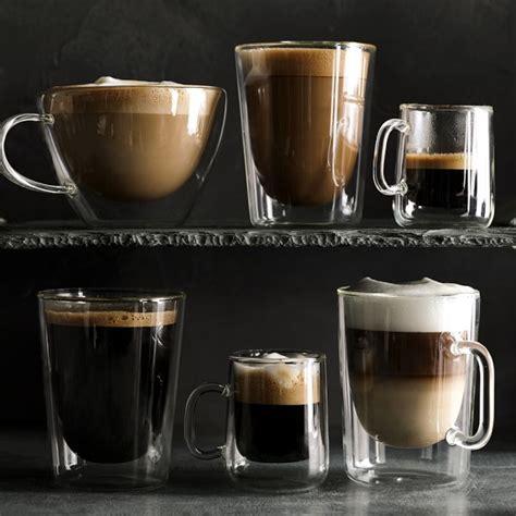 Coffee Glass wall glass coffee cups set of 2 williams sonoma