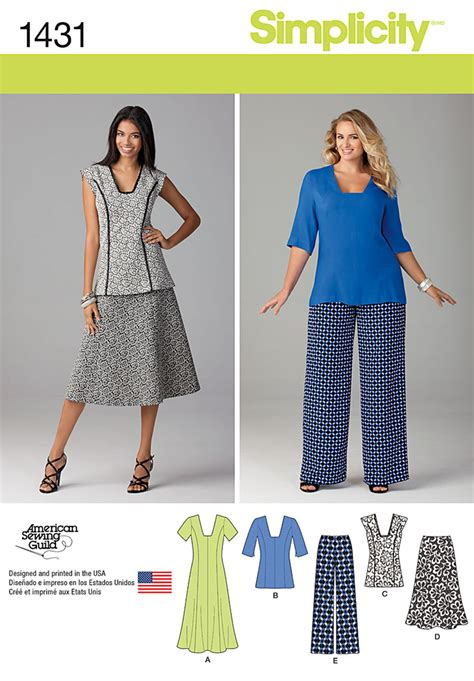 pattern review simplicity 1195 simplicity 1431 misses and miss plus dress or tunic