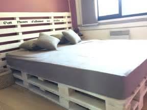 lit de chambre sommier en bois de palette meubles et