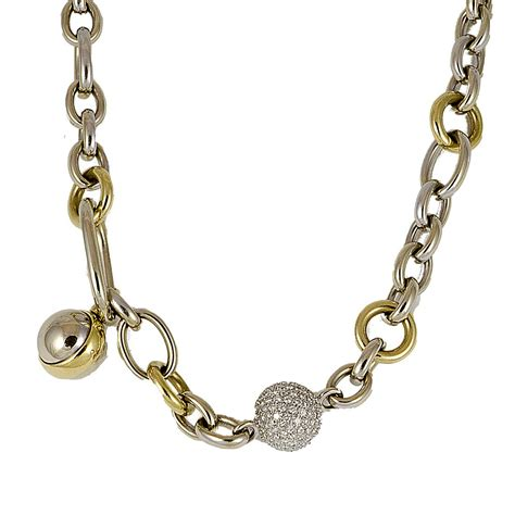 collane pomellato collana in oro bianco e giallo con diamanti pomellato