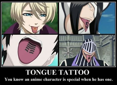 black butler tattoo tongue tongue and