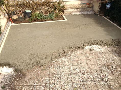 faire une dalle beton exterieur 4225 comment faire une dalle de beton pour terrasse 21462