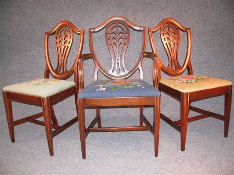 Drexel Dining Room Chairs 6 Vtg Drexel Dining Room Chairs Federal Hepplewhite Mahogany Sheraton Antique Ebay