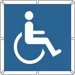 Disabled Parking Template by Enlarged Image