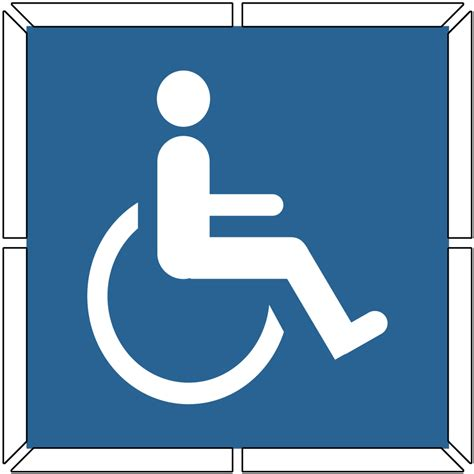 disabled parking template enlarged image