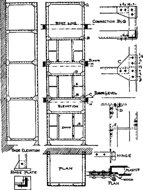 elevator section car lift blocks electrical schematic