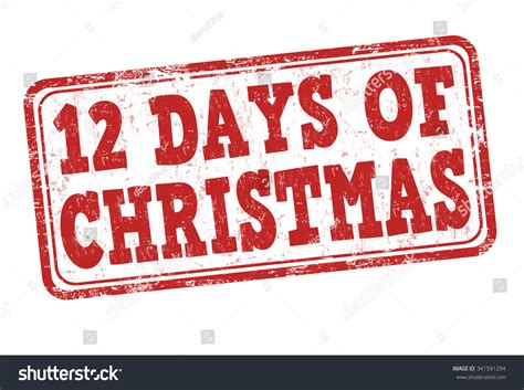 12 days of rubber sts 12 days grunge rubber st stock vector