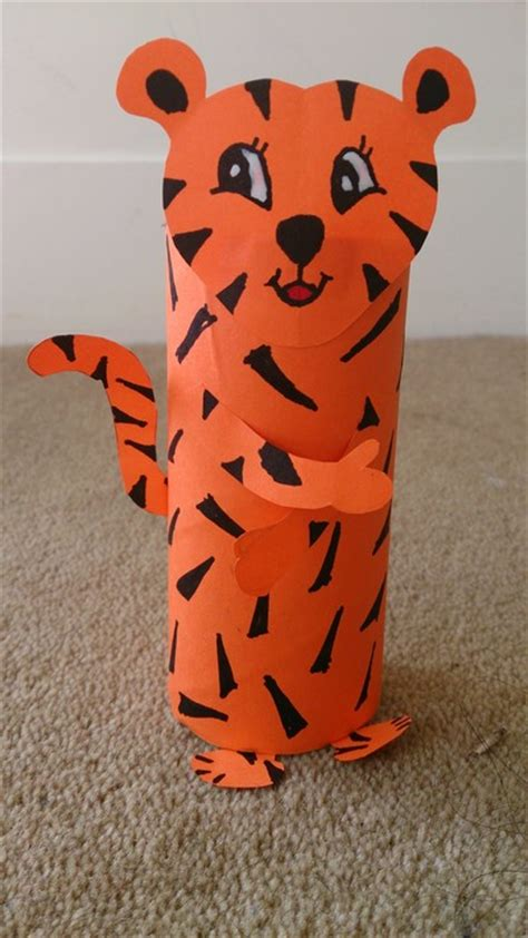 Toilet Paper Roll Crafts Animals - toilet roll tiger my kid craft