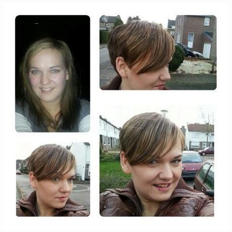 before and after short hair styles of chubby faces long hair to short pixie cut