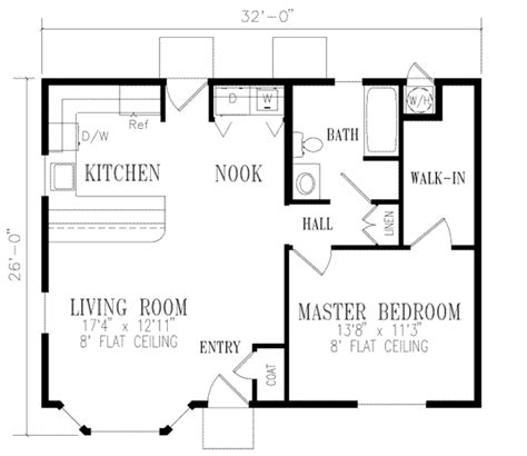 one bedroom one bath house plans house 14231 blueprint details floor plans