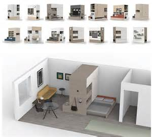 smart robotic multifunctional unit for micro apartments transforms with touch of a button video