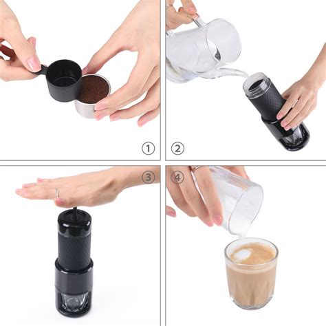 Staresso Mini Coffee Maker Espresso Coffee Cappuccino All In 1 staresso portable manual coffee maker cappuccino espresso mini all in one ebay