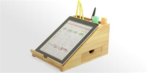 Fruit Decoration For Kids Ipad Stand Desk Organiser Bamboo Office Supplies