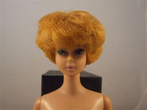 what is a bubble cut hair style look like vintage 1963 midge barbie bubble cut titian hair see