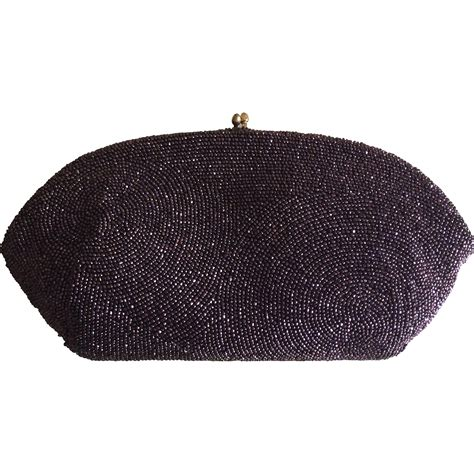 beaded clutch vintage cut beaded clutch made in belgium from