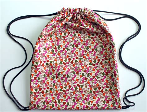 pattern lined drawstring bag versatile and functional diy drawstring bags for all ages