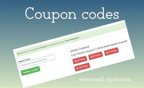 Shopping Around The Web Coupon Codes by Pointsprizes Coupon Codes List To Earn Free Credits Wall