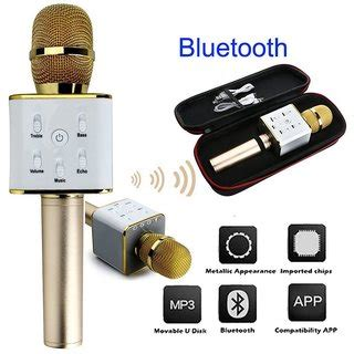 Mic Speaker Bluetooth Mic Karaoke new wireless karaoke condenser mic microphone with portable bluetooth speaker buy new wireless