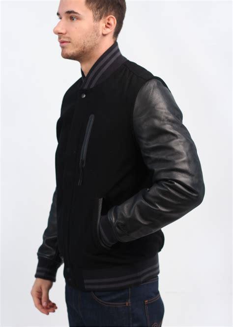 Jaket Varsity Black Nike nike destroyer varsity jacket black black