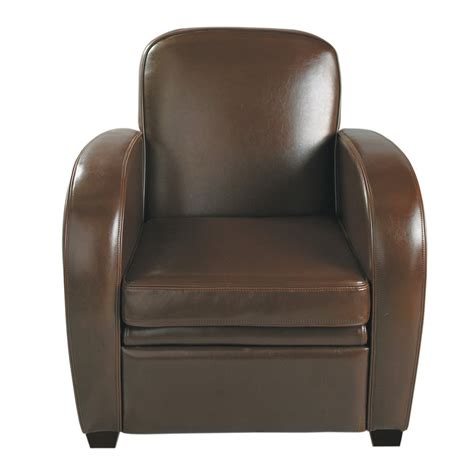 Leather Club Armchairs by Leather Club Armchair In Chocolate Harvard Maisons Du Monde